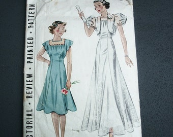 1930s Dress and Bolero Ensemble  Size 15 Bust 33