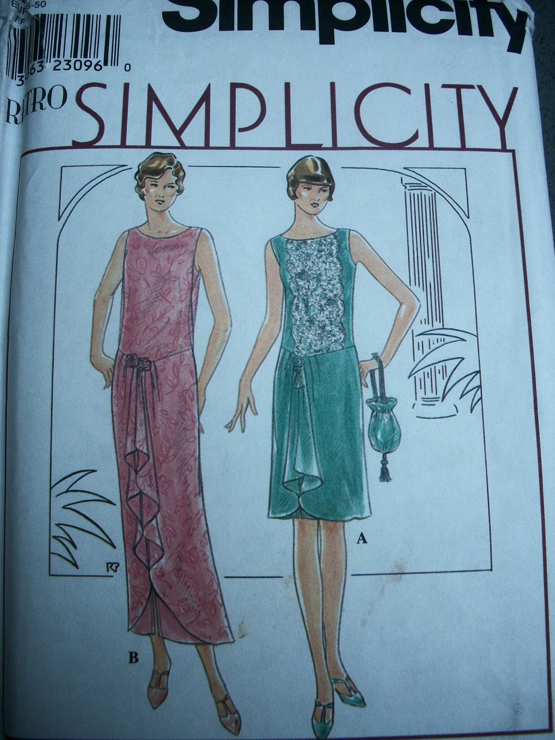 Vintage Simplicity Pattern 8776 Roaring 20s Style Flapper