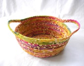 Florida Sunrise Coiled Fabric Bowl