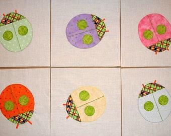 Baby Bugs Appliqued Quilt Blocks
