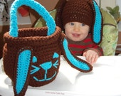 Easter Bunny Hat and  Basket Fully Customizable Hat Sizes