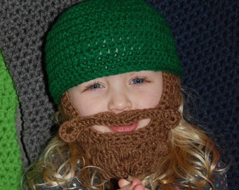 Made Upon Ordering Beard Beanie Child Size 2 to 4 Can Customize Size