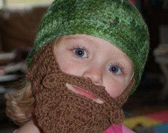 2 to 5 Year Old Size Beard Beanie Made Upon Ordering