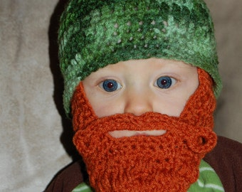 Button Off Beard Baby Beard Beanie You Choose Size and Colors