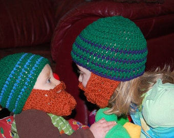 Combo Pack Baby Beard Beanies Can Customize Size