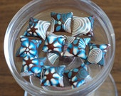 Turquoise and Brown Garden pillow beads