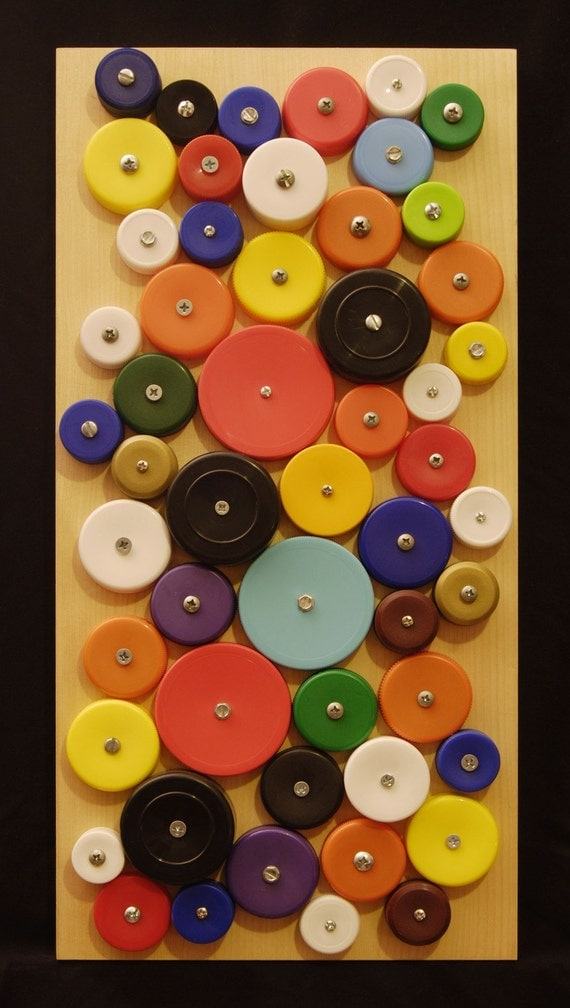 bottle cap wall hanging 2