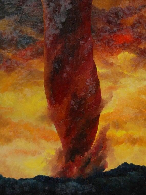 Red Tornado original oil painting