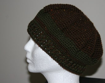 timeless beret in a classis brown tweed