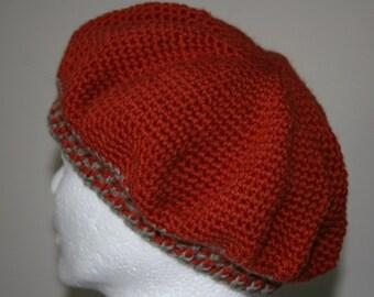 timeless beret in a paparika shade