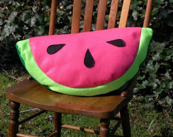 Pink Watermelon Pillow-Fruit Pillow Plush-Unique-Decorative Pillow