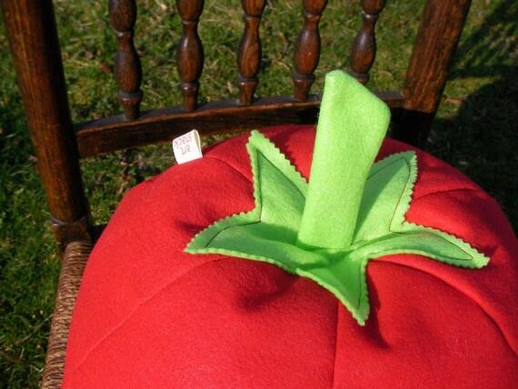 Tomato Pillow- Vegetable Pillow- Plush- Unique- Veggie- Decorative Pillow