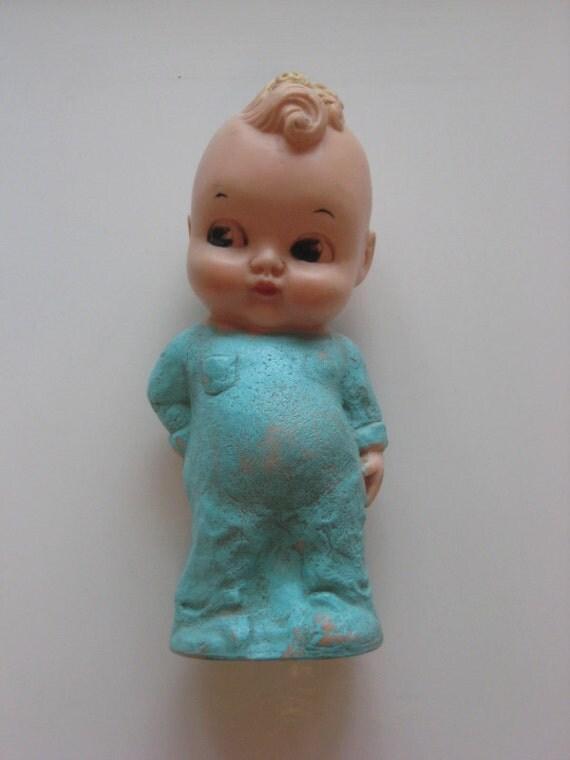 Vintage Dreamland Creations Inc., 1956 Squeak Toy Little Boy in PJs