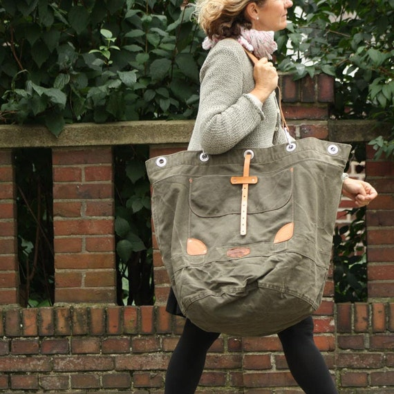 peace4you upcycled XXL Tote / minna-2099 / Made in Germany