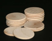 50 - Round Circle Disk - 1-1/4 x 1/8 inch unfinished wood (WW-WNC125)