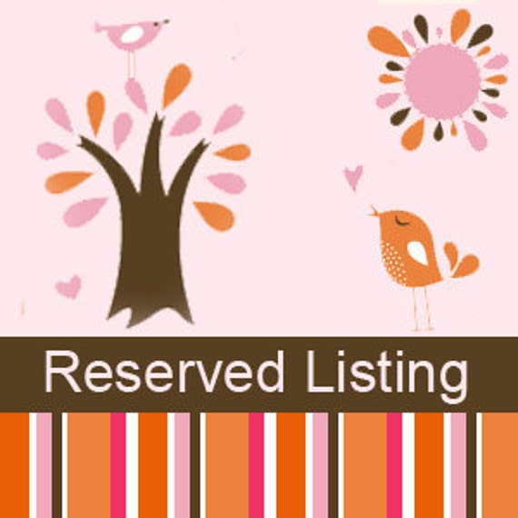 Reserved Listing for Cindy