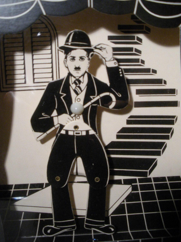 Vintage Charlie Chaplin Musical Animated Jewelry Box
