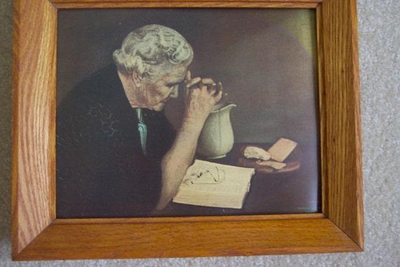 man praying painting