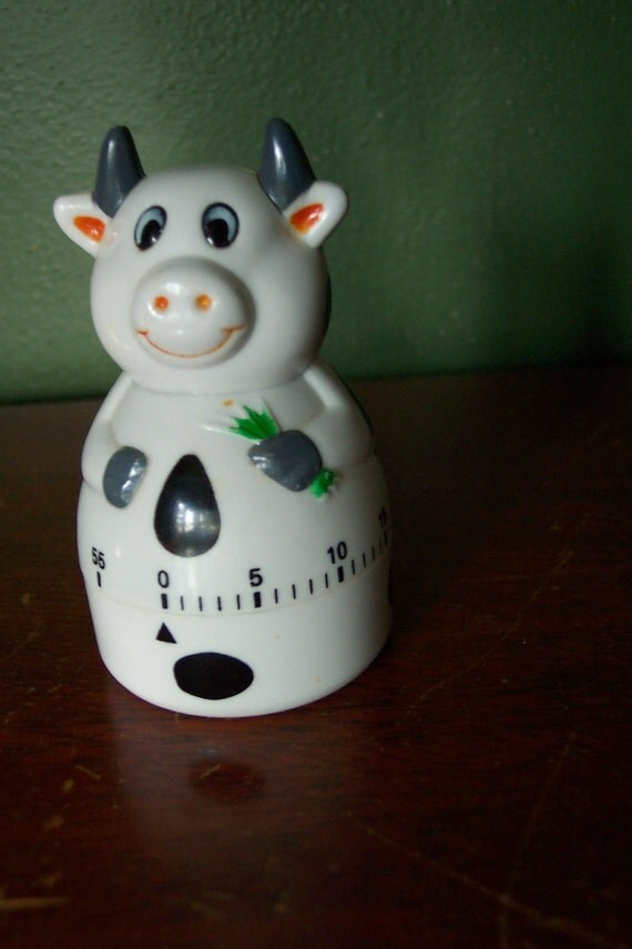 Timer, Egg Timer, Baking Timer, Cow  Shaped Timer, Holstein Cow Timer, Count the Minutes