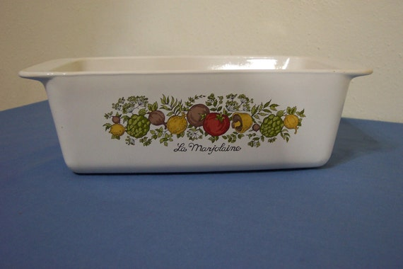 Corning Ware Loaf Pan Spice Of Life Bread Pan
