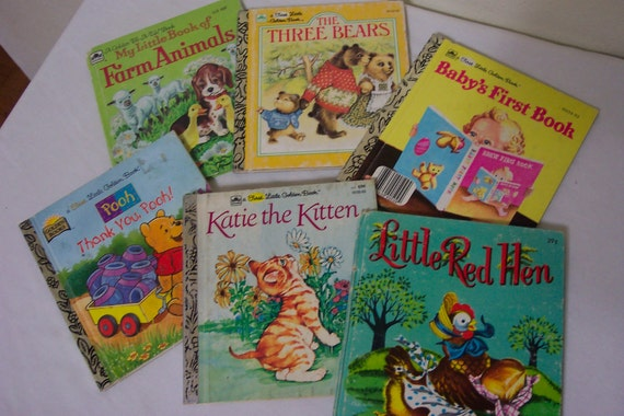 Childrens Books Set of 6 Little Golden Books and a Whitman Book Little Red Hen