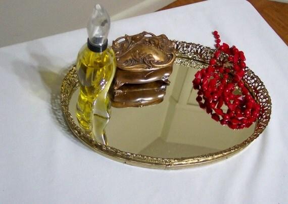 Vanity Mirror Filigree Oval Mirror