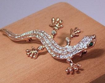 Rhinestone Gecko Pin-Free Domestic Shipping