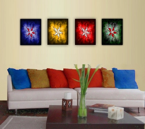 Rangoli Art Print - COLORS- Rangoli Patterns. Yoga and meditation Art. Wall decor. Home decor.
