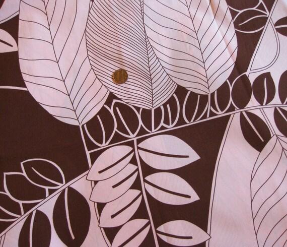 Sale-Fabric Destash - Alexander Henry - Capri, Pink and Chocolate Brown - 1 Yard fabric