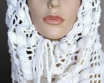 Crochet Lace Cowl Crochet Pattern PDF