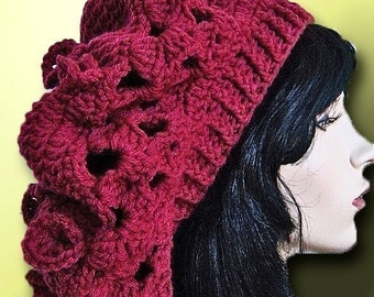 Crochet Hat Slouch Dreadlocks Crochet Pattern