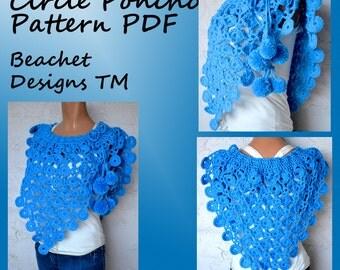 Crochet  Poncho Pattern PDF