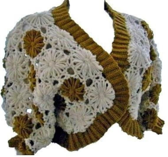 Crochet Flower Jacket Pattern : Bolero Crochet Jacket Flower Loom Pattern