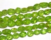 Peridot faceted oval full strand