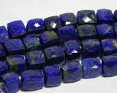 Lapis faceted 3D cubes 4 pieces