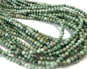 """Turquoise yes real TURQUOISE small round beads whole 15"""" strand"""