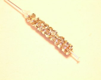 10 pcs 5mm QUALITY CLEAR crystal rondells