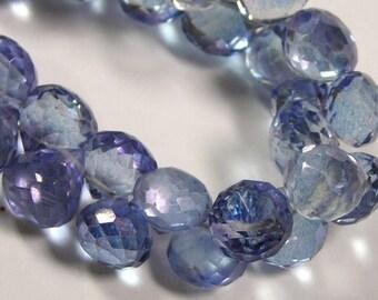 Mystic Blue quartz candy kiss onions 4 pieces