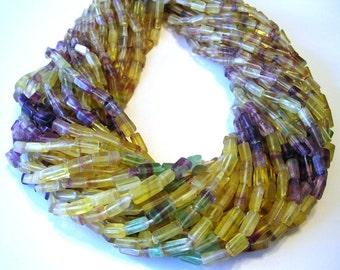 """Flourite shaded rectangular beads full 14"""" stand."""