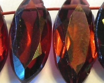 Garnet ring cut marquis 6 pieces