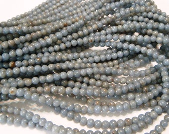 Angelite round beads whole strand ANY SIZE