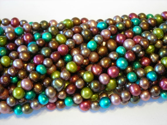 Pearls mixed color 6mm full strand