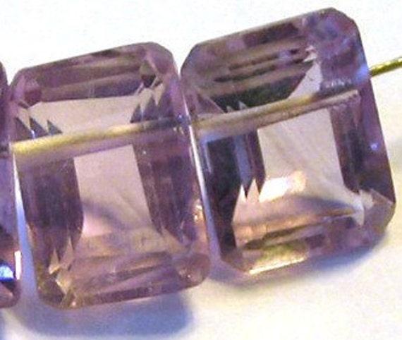 Amethyst ring cut emerald shape 6 pieces