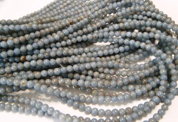 Angelite round beads whole strand ANY SIZE