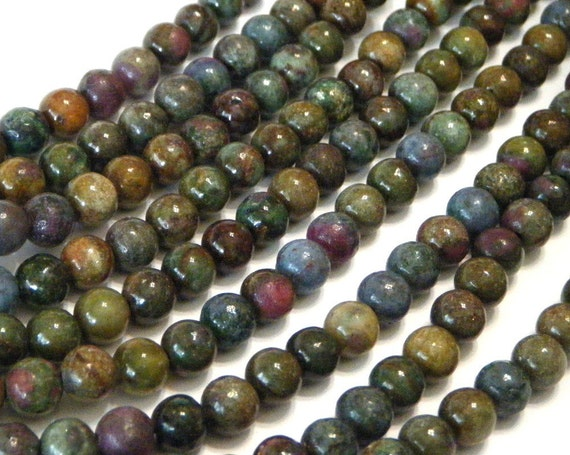 Mystery stone small round beads whole strand 5mm