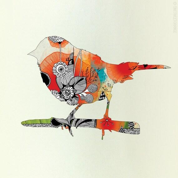 Little Bird - Giclee Print, 9x9