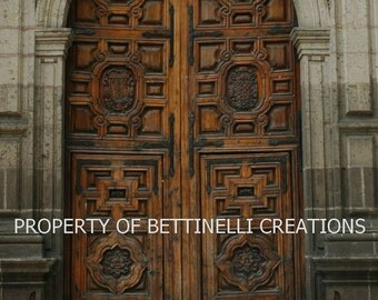 Church door in Morelia, Mexico by Bettinelli