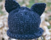Cat Beanie Hat - Kitty Cat with ears