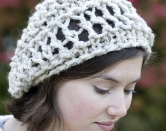 Slouchy Beret Tam Hat - Lacy Slouch