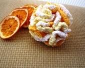 Crocheted Yellow Cotton Puff